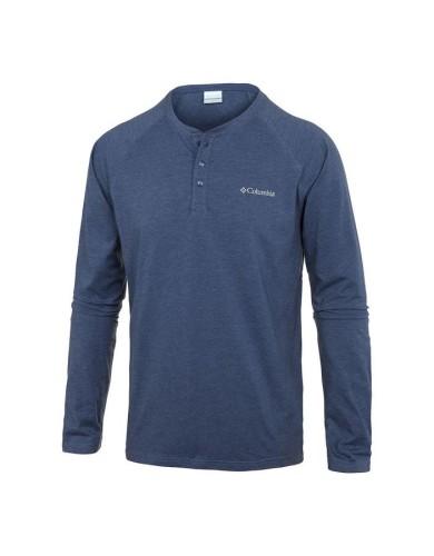 מוצרי קולומביה לגברים Columbia Global Rambler L/S Henley - כחול