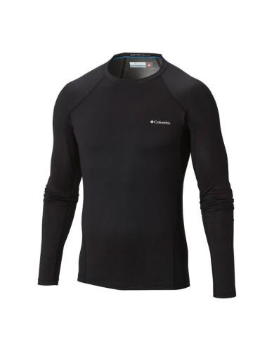 מוצרי קולומביה לגברים Columbia Midweight Stretch Long Sleeve Top - שחור