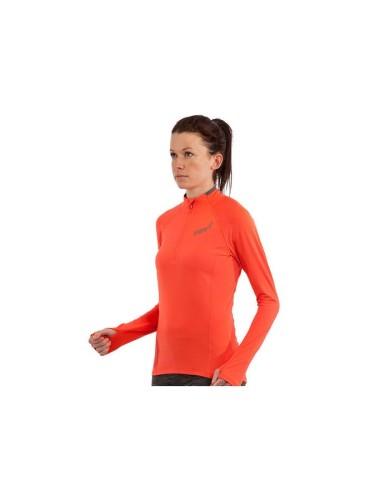 מוצרי אינוב 8 לנשים Inov 8 long sleeve half zip mid layer - כתום