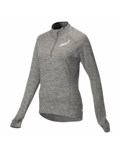 מוצרי אינוב 8 לנשים Inov 8 long sleeve half zip mid layer - אפור