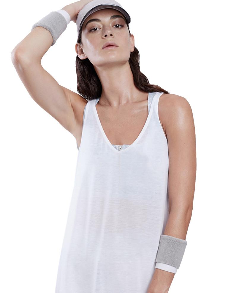 מוצרי לונקס לנשים Lynx Flow White Top - לבן