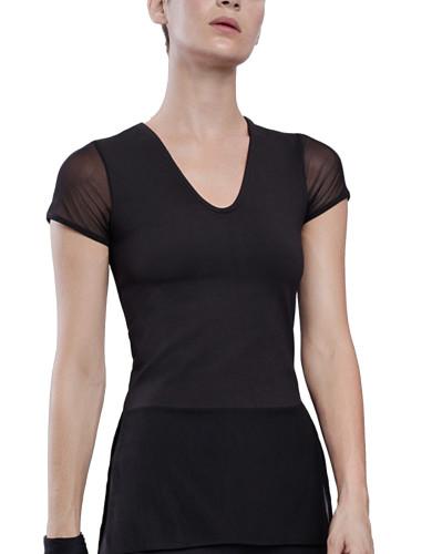 מוצרי לונקס לנשים Lynx Glam T Black Top - שחור