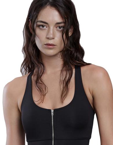 מוצרי לונקס לנשים Lynx Kiara Black Sports Bra - שחור