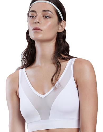 מוצרי לונקס לנשים Lynx Lushky White Sports Bra - לבן