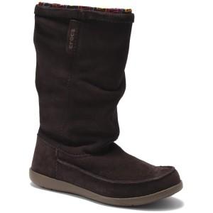 מוצרי Crocs לנשים Crocs Adela Suede Boot - חום