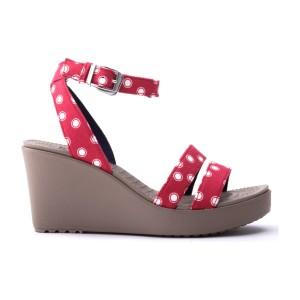 מוצרי Crocs לנשים Crocs Leigh Graphic Wedge - אדום
