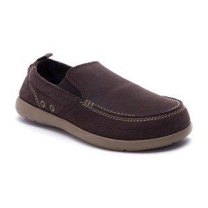 מוצרי Crocs לגברים Crocs Harborline Nubuck Loafer - חום