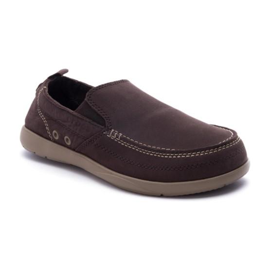 מוצרי Crocs לגברים Crocs Harborline Nubuck Loafer - חום