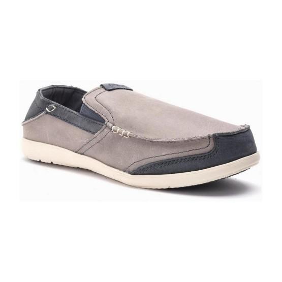 מוצרי Crocs לגברים Crocs Walu Express Leather Loafer - אפור