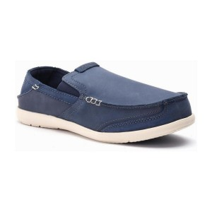 מוצרי Crocs לגברים Crocs Walu Express Leather Loafer - כחול