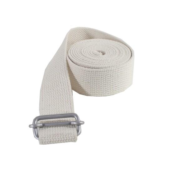 מוצרי YOGASTORE לנשים YOGASTORE Professional Yoga Belt - לבן