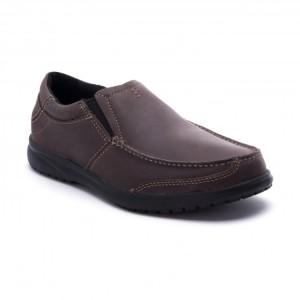 מוצרי Crocs לגברים Crocs Shaw Leather Loafer - חום כהה