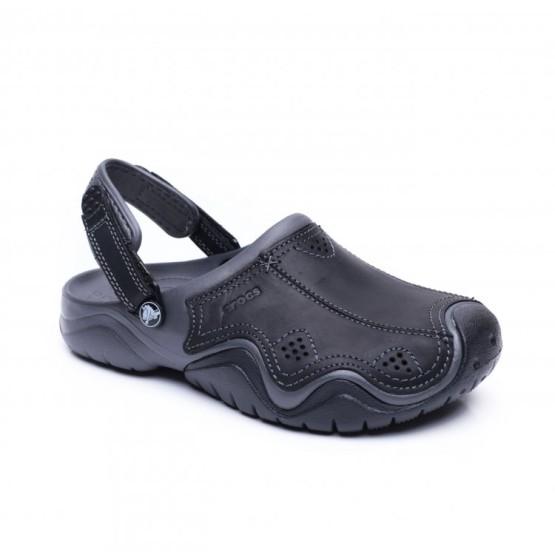 מוצרי Crocs לגברים Crocs Swiftwater Leather Clog - שחור