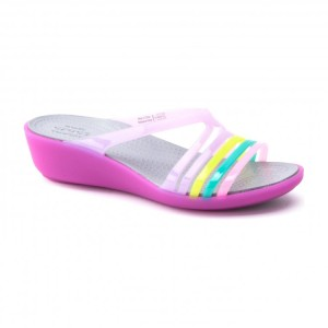 מוצרי Crocs לנשים Crocs Isabella Mini Wedge - סגול/ורוד