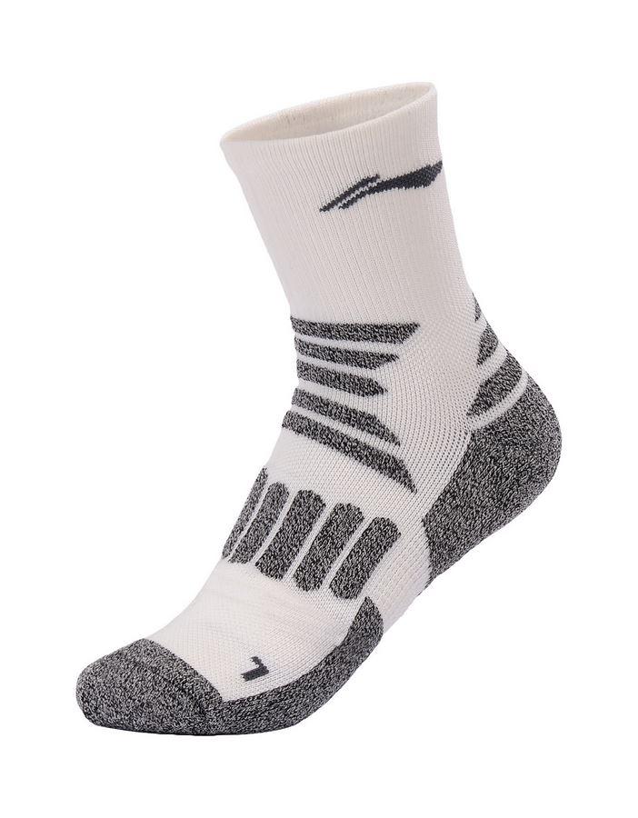 מוצרי לי נינג לנשים Li-Ning Training Quarter  Socks - אפור/לבן