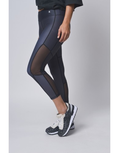 מוצרי לופופ לנשים LUPOP Stripes - שחור/אפור