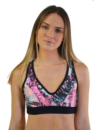 מוצרי ריו גים לנשים Rio Gym Sports Bra - סגול/ורוד