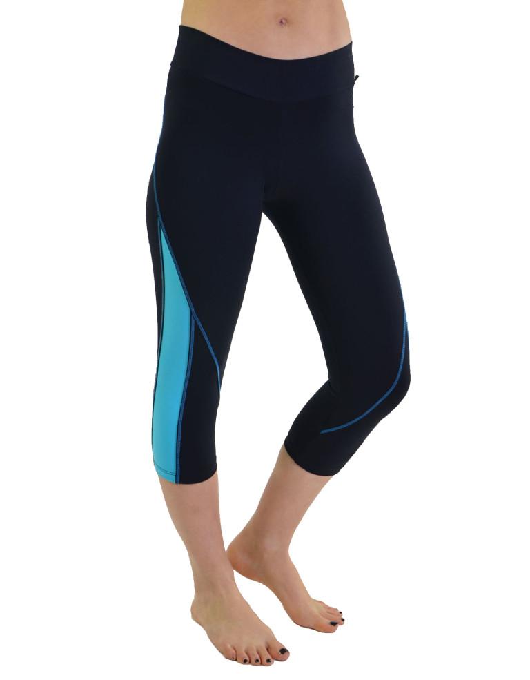 מוצרי ריו גים לנשים Rio Gym Cropped Capri - שחור/כחול