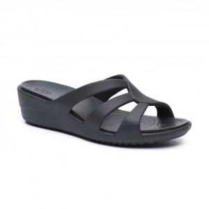 מוצרי Crocs לנשים Crocs Sanrah Strappy Wedge - שחור
