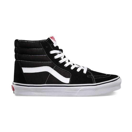 מוצרי ואנס לנשים Vans SK8 HI - שחור/לבן