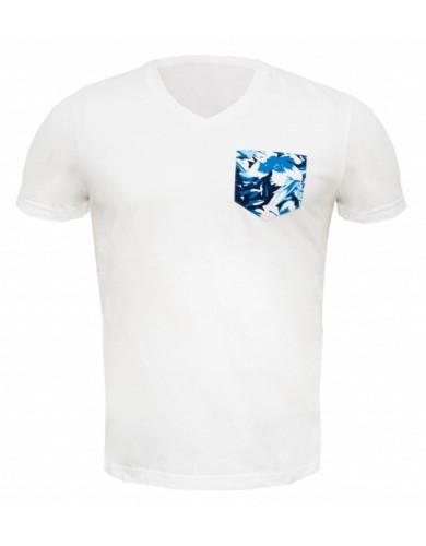 מוצרי לה קוק ספורטיף לגברים Le Coq Sportif GRAPHIC Pocket Tropi - לבן