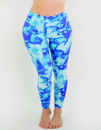 מוצרי ריו גים לנשים Rio Gym Isabella Legging - כחול/תכלת